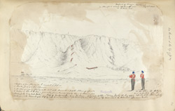 f.40' Pass of Nufoosk near Kahun. Advance of the Storm party, 31st Aug. 1840.